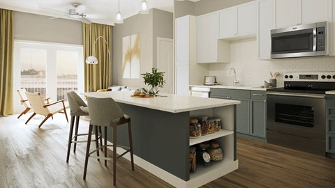 Eat-in Kitchen With Pantry,at Southline Residences, Texas